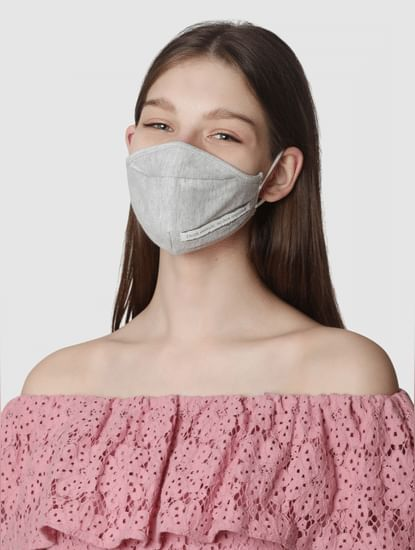Pack of 2 Slogan Print Knit 3PLY Anti-Bacterial Mask