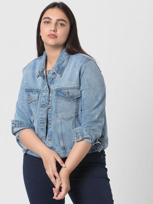 Light Blue Organic Cotton Denim Jacket