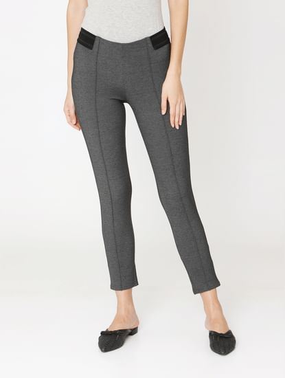 Dark Grey High Rise Skinny Fit Leggings