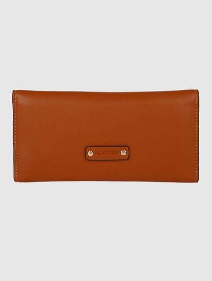 Brown Button Detail Wallet