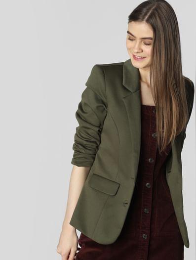 Dark Green Formal Blazer