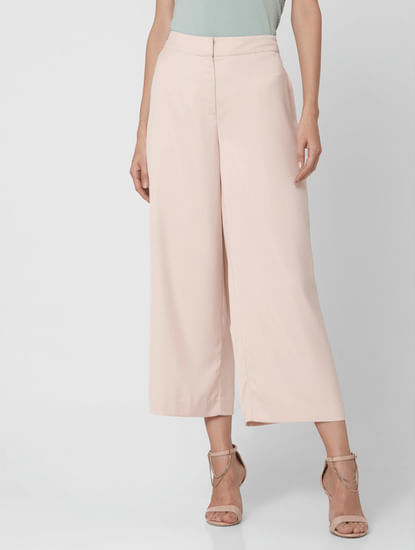 Soft Pink Mid Rise Culottes