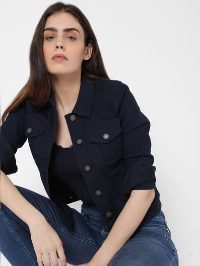 Navy Blue Denim Jacket
