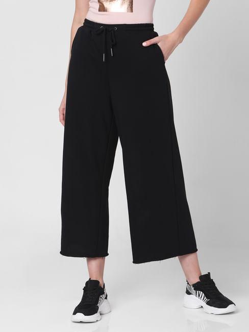 Black High Rise Knit Culottes