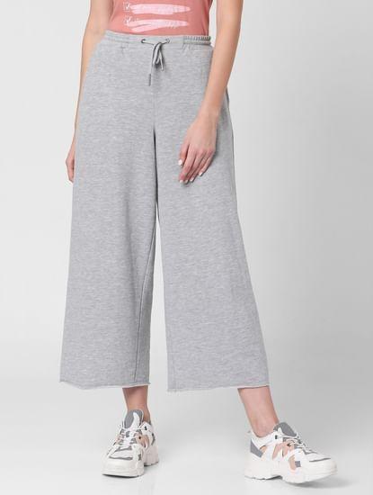 Grey High Rise Knit Culottes