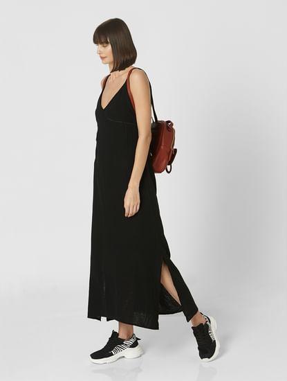 Black Strappy Maxi Dress