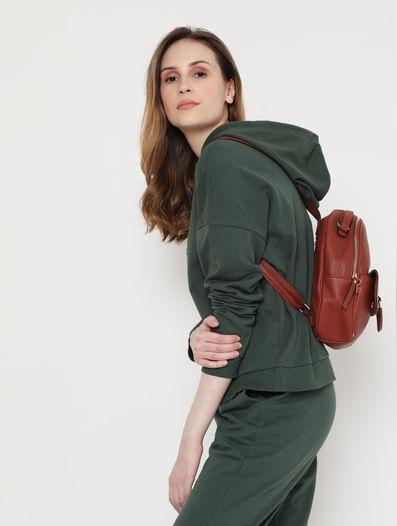 Green Hooded Co-ord Sweatshirt