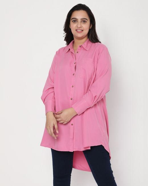 Pink Long Tunic Shirt
