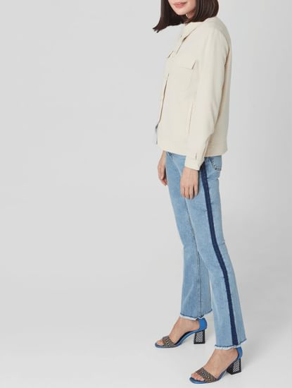 Blue Mid Rise Bootcut Jeans