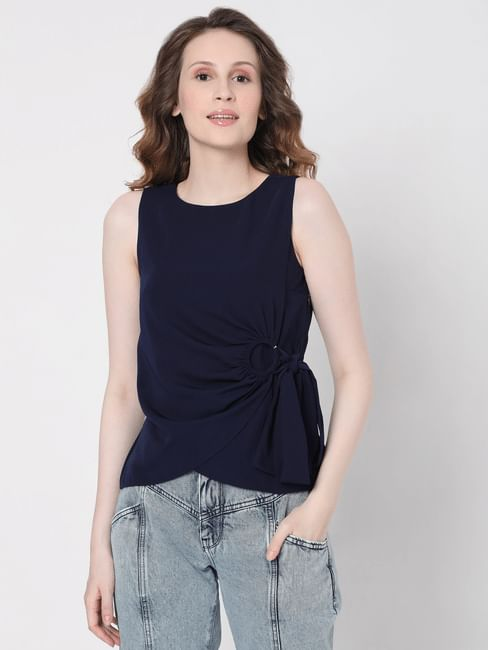 Blue D Ring Top