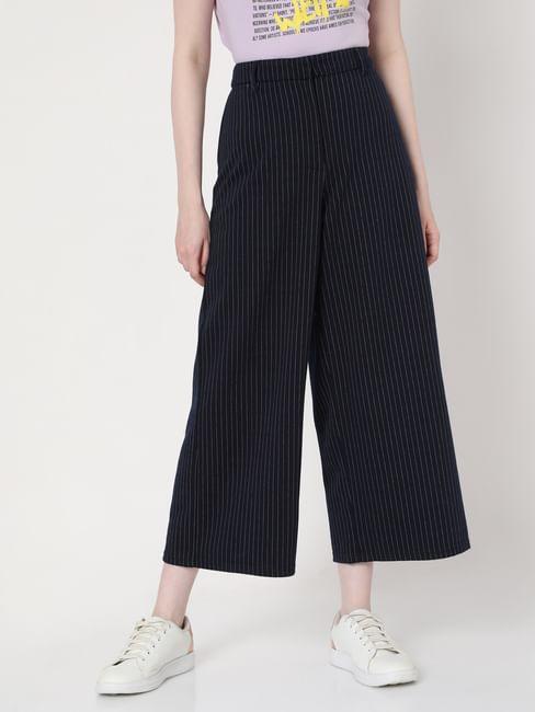 Blue Striped Culottes
