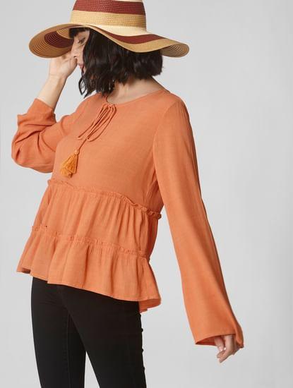 Light Orange Tiered Flared Top