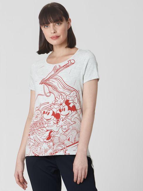 Light Grey Mickey Print T-shirt