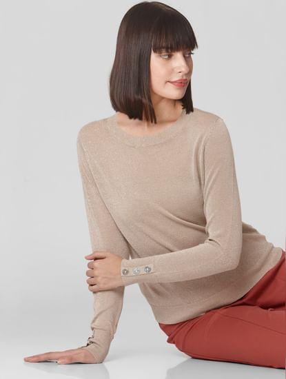 Beige Shimmer Pullover