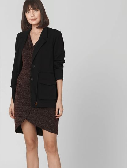 Black Drawstring Blazer