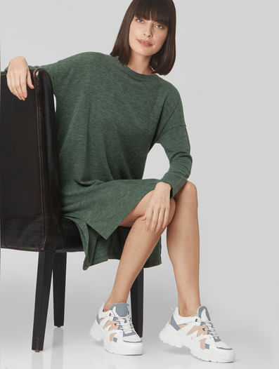 Green Shift T-shirt Dress