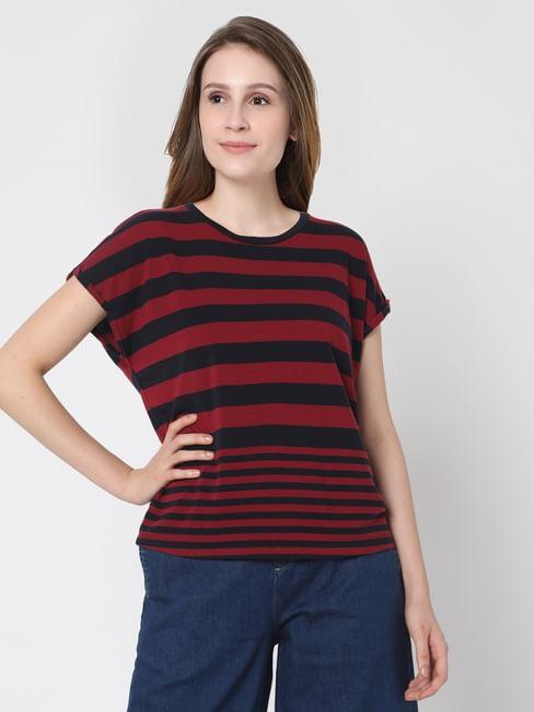 Black & Red Striped T-shirt