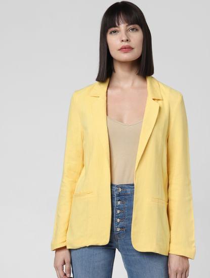 Yellow Loose Blazer