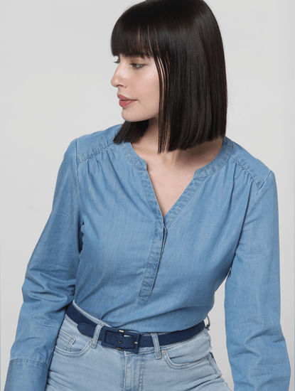 Blue Denim Top