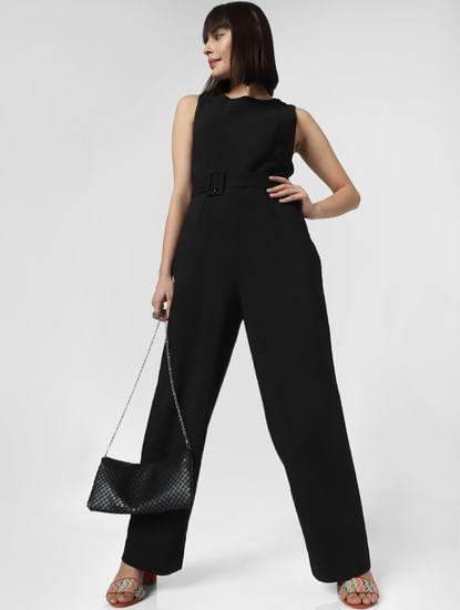 Black Belted Jumpsuit