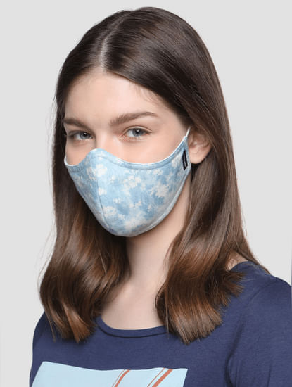 Pack of 2 Blue 3PLY Anti-Bacterial Mask