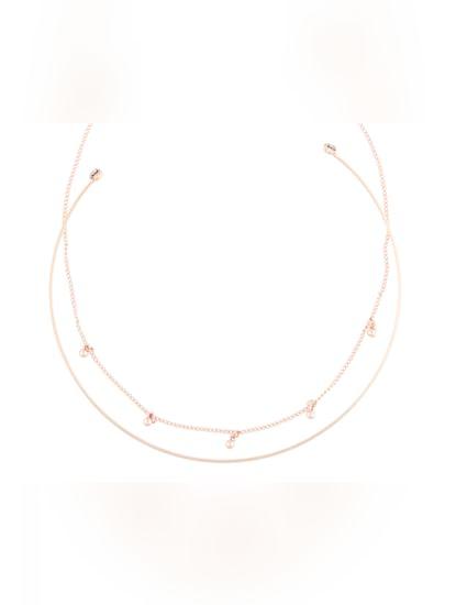 Rose Gold Necklace Set