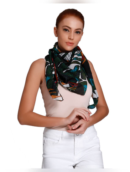Green All Over Print Scarf