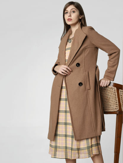 Brown Long Belted Coat
