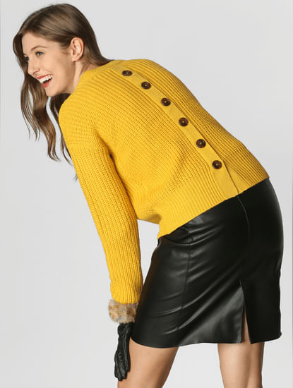 Yellow Textured Pullover