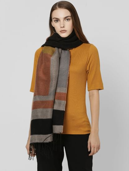 Rust Striped Scarf