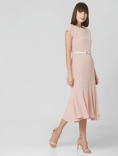 Light Pink Midi Dress