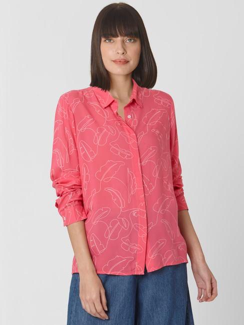 Pink All Over Print Shirt