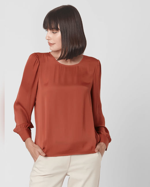 Rust Full Sleeves Top
