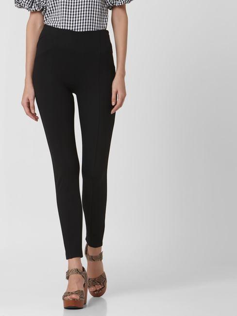 Black High Rise Skinny Fit Leggings