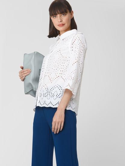 White Cut Work Shirt
