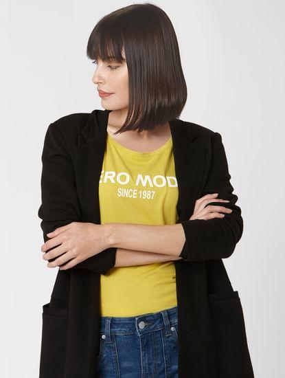 Yellow Logo Print T-shirt