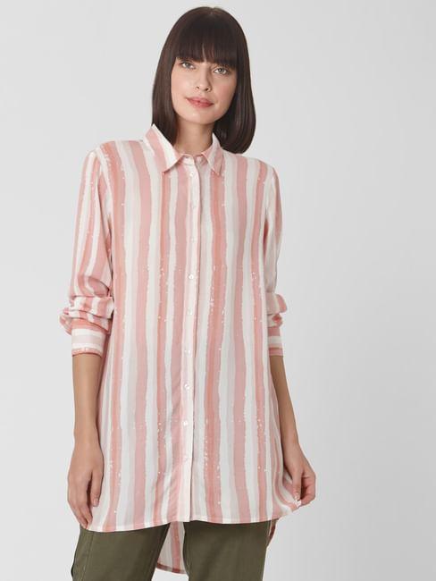 Pink Striped Tunic Shirt
