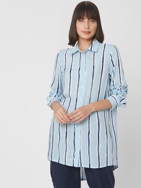 Light Blue Striped Tunic