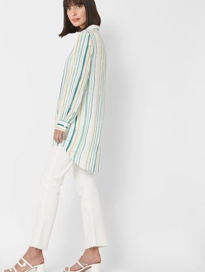 Multi Coloured Striped Tunic Shirt