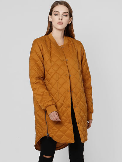 Brown High Neck Puffer Jacket