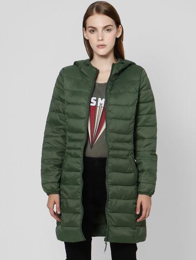 Green Hooded Puffer Jacket