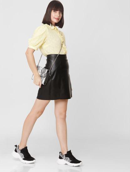 Black High Rise Skirt