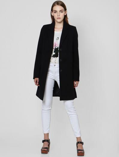 Black Woven Coat