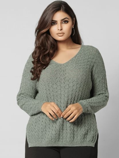 Curve Green Pullover