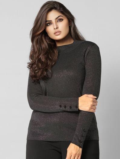 Black Shimmer Sweater