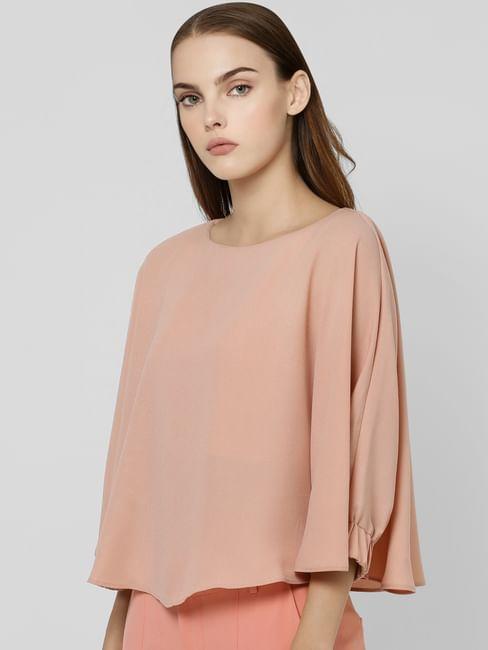 Pink Batwing Sleeve Top