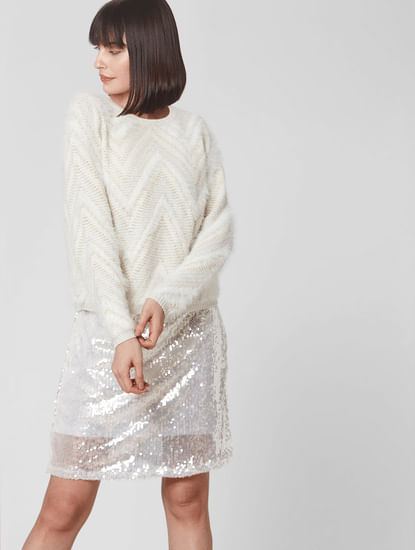 Snow White Knit Pullover
