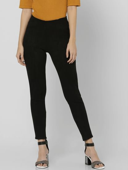 Black Suede Legging
