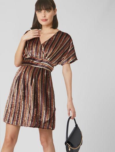 Chocolate Plum Fit & Flare Dress