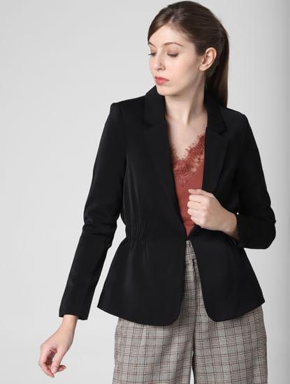 Black Single Hook Formal Blazer